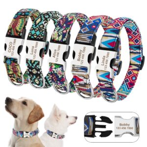 Personalized Dog Collar Bohemian