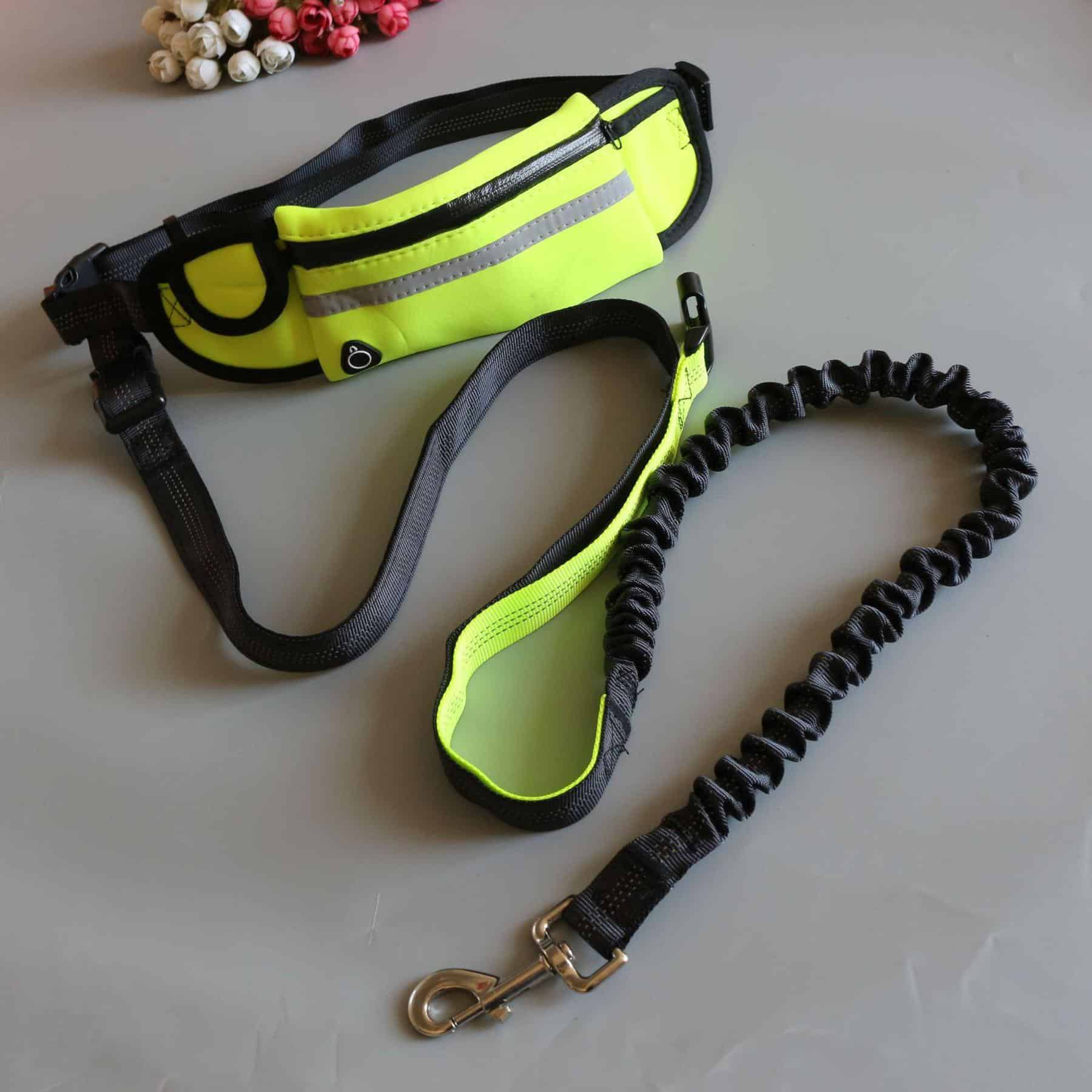 Hands-free Dog Running Leash with Pouch